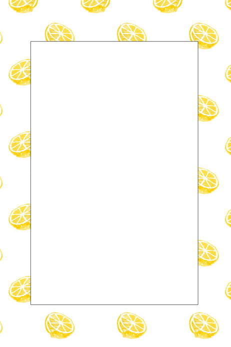 Lemon Party Prop Frame