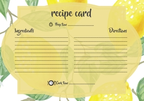 Lemon Recipe Card