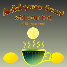 lemon tea in a cup