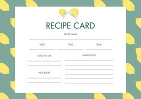 Lemon Themed Landscape Recipe Card