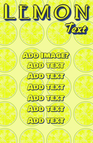 Lemon yellow fruit template