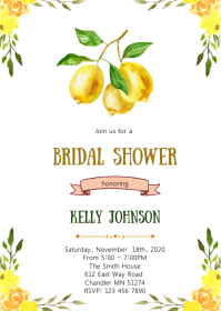 Lemonade bridal shower invitation