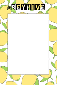 Lemonade Party Prop Frame