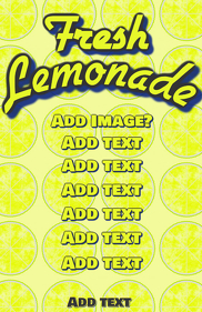 Lemonde yellow lemon template
