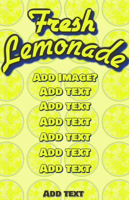 Lemonde yellow lemon template