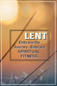 Lent Poster template