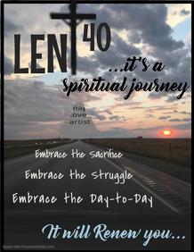 Lenten Journey Flyer Template