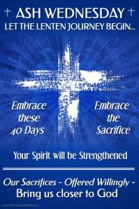 Lenten Message Flyer Template
