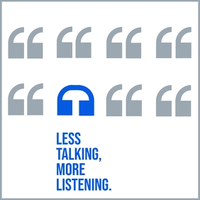 Less Talking More Listening Quote Template
