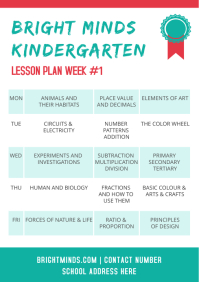 Lesson Plan Design A4 template