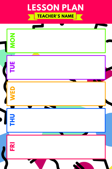 Lesson Plan Poster Template PosterMyWall