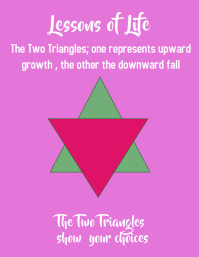 lessons of life, the two triangles Flyer (US Letter) template