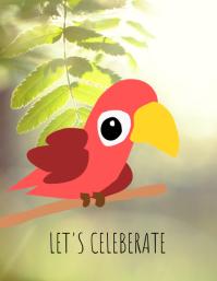 Let's celebrate! Рекламная листовка (US Letter) template