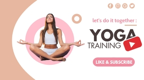 let's do it: yoga training youtube thumbnail template