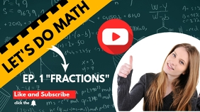 let's do math youtube video thumbnail design template