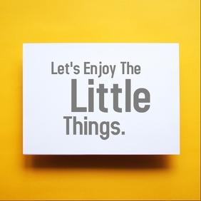 Let's enjoy the little things minimalist post Instagram Plasing template