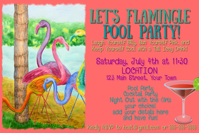 Let's Flamingle! Pool Party
