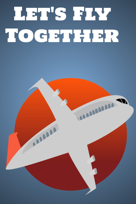 Let's Fly Together Travel Poster