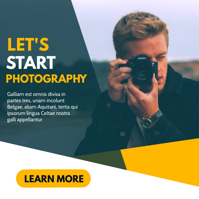let's start photography classes advertisement Instagram Post template