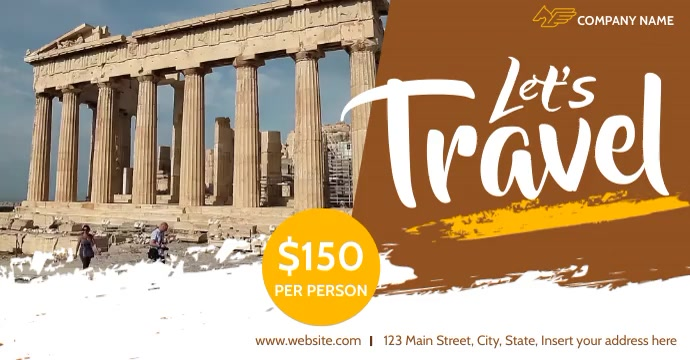 let's travel video advertising template