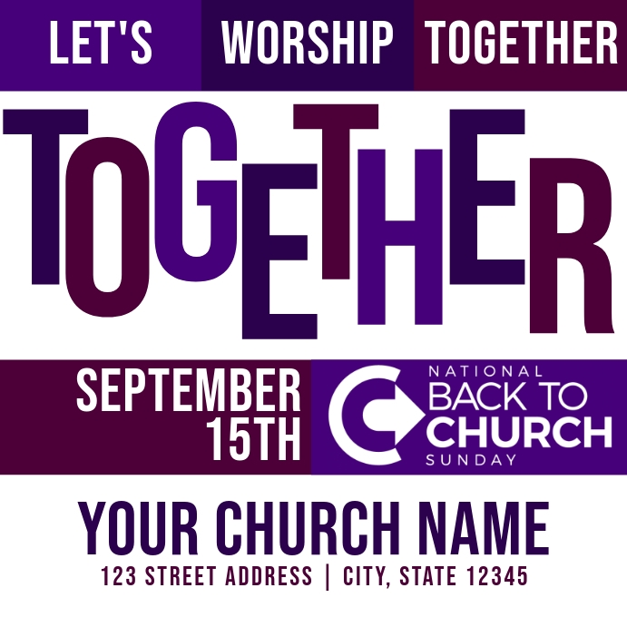 Let's Worship Together | Back to Church