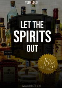 Let the spirits out bar discount flyer
