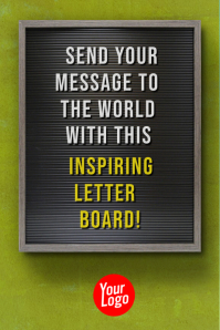 Letter board Billboard Motivational Story Plakkaat template