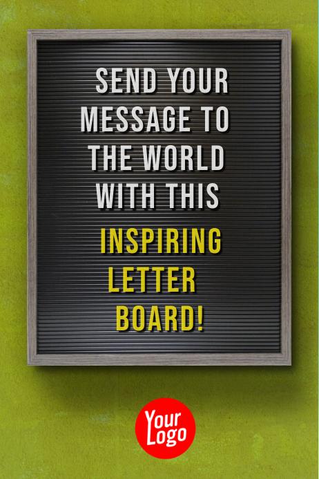 Letter board Billboard Motivational Story