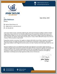 Letter Head Flyer (US-Letter) template