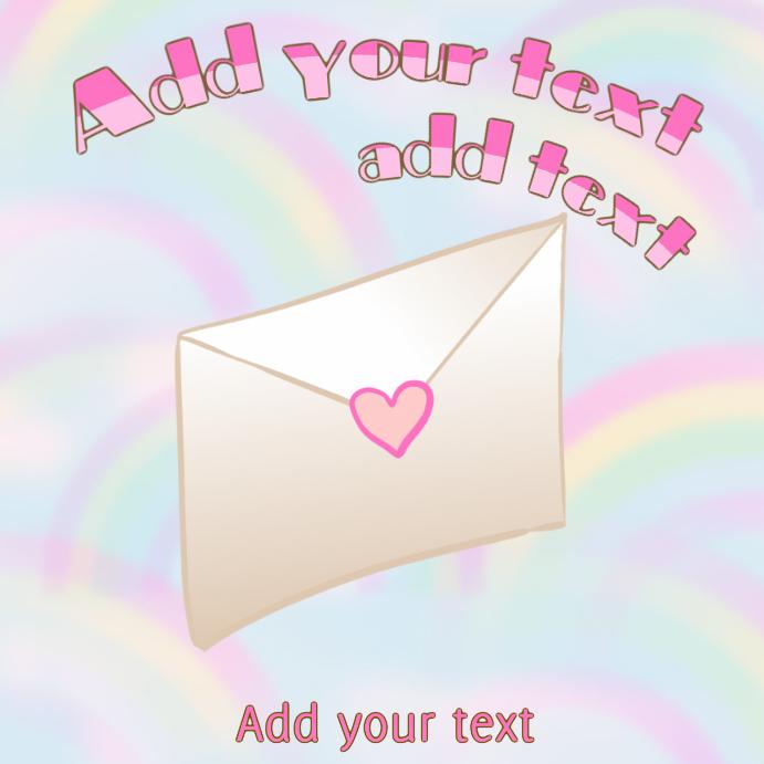letter - loveletter with pink heart sticker