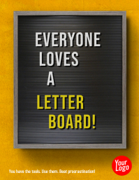 Letterboard Motivational Message Flyer Volante (Carta US) template