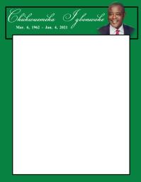 LETTERHEAD Flyer (US Letter) template