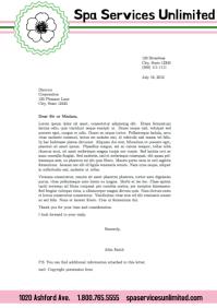 letterhead template/corporate/office/salon A4