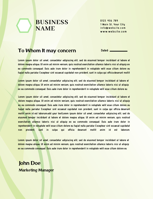 letterhead templates Pamflet (VSA Brief)