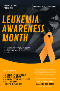 Leukemia Awareness Month Flyer Template Poster