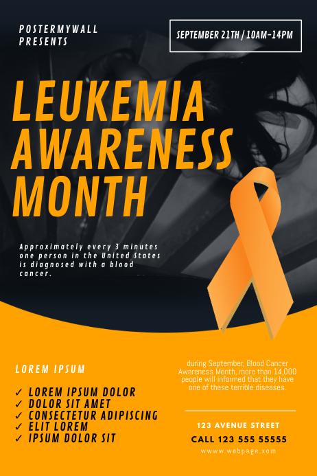 Leukemia Awareness Month Flyer Template