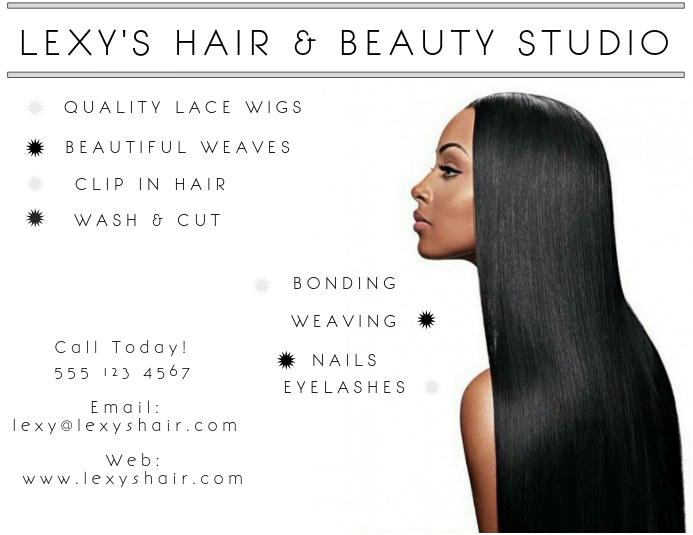 Lexy's Hair & Beauty Flyer