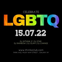 LGBTQ rainbow video Pride Party Event Festival