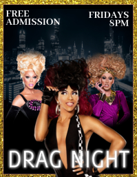 LGBTQ Gay Pride Club Drag Show Flyer (US Letter) template