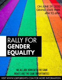 LGBTQ POSTER Flyer (US Letter) template