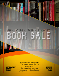 Library Book Sale Event Flyer Template