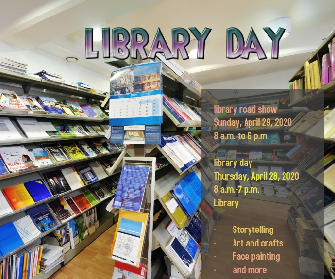 Library Day สามเหลี่ยมขนาดกลาง template