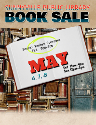 Library Event Used Book Sale flyer template