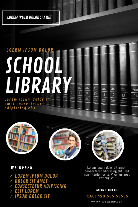 Library Flyer Design Template