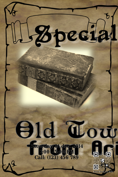 Library and museum flyer