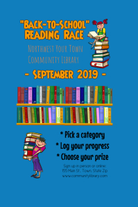 Library Reading Challenge Poster