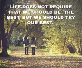 LIFE AND BEST QUOTE TEMPLATE