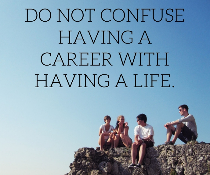 LIFE AND CAREER QUOTE TEMPLATE Rectángulo Grande