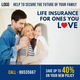 Life and Family Health Insurance Instagram Plasing template