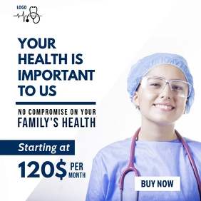 Life and Family Health Insurance Instagram Post template